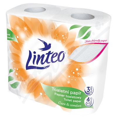 _ME2 Toaletní papír LINTEO heřmánek 3vrstvý žlutý 4role