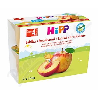 Zobrazit detail - HiPP 100% OVOCE BIO Jablka s broskv.  4x100g
