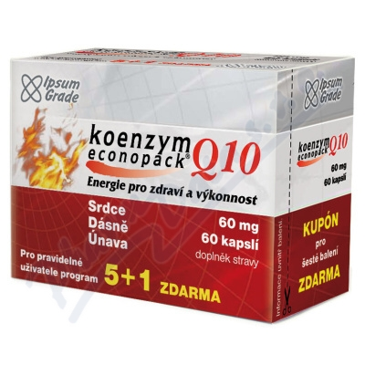 Zobrazit detail - Koenzym Q10 econopack 60mg cps. 60