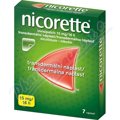 Zobrazit detail - Nicorette Invisipatch 15mg-16h drm. emp. tdr. 7x15mg