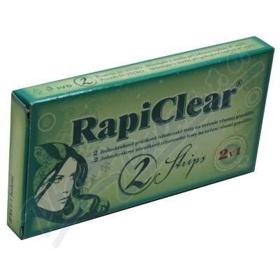 Zobrazit detail - Těhotenský test RapiClear 2 Strip 2ks