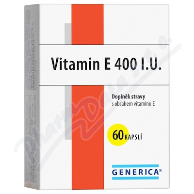 Zobrazit detail - Vitamin E 400 I. U.  cps. 60 Generica