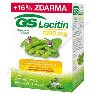 Zobrazit detail - GS Lecitin 1200 cps. 120+20