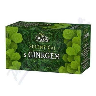 Grešík Zel. čaj s ginkgem n.s. 20x1.5 g přebal