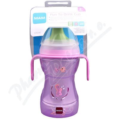 Zobrazit detail - MAM Hrnek na učení Fun to drink cup 270ml oušk. 8+m
