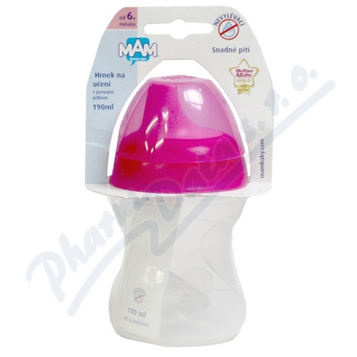 MAM Hrnek na u�en� Learn to drink cup 190ml 6+m�s.