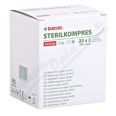 Zobrazit detail - Gázový kompres STERILKOMPRES 5x5 25x2ks