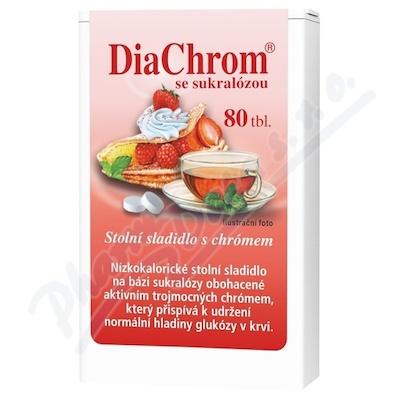 Zobrazit detail - DiaChrom se sukralózou tbl. 80 nízkokalor. sladidlo