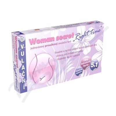 Zobrazit detail - Ovulační test Woman Secret Right Time proužkový5v1