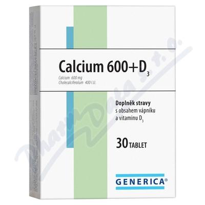 Zobrazit detail - Calcium 600+D3 Generica tbl. 30