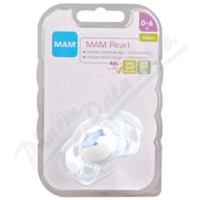 MAM Dudlík Pearl 0-6měsíců silikon 1ks