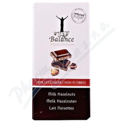 Zobrazit detail - Balance Mléčná čokoláda s lísk. ořechy b. cukru 100g