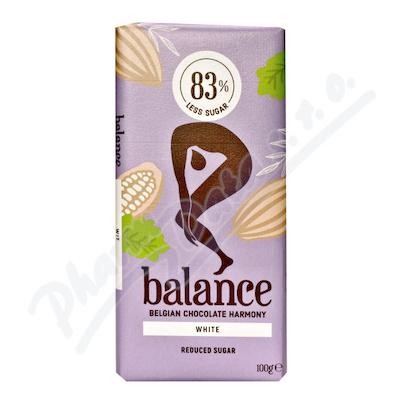 Zobrazit detail - Balance Bílá čokoláda s vanilkou bez cukru 100g