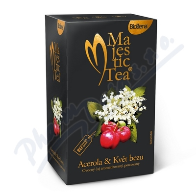 Zobrazit detail - Čaj Majestic Tea Acerola+květ Bezu n. s. 20x2. 5g