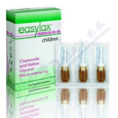 EASYLAX - dětské glycerolové projímadlo 6 x 3 g
