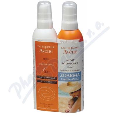 Zobrazit detail - AVENE Spray SPF30 200ml + Lait repar 200ml