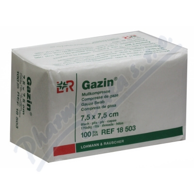 Gáza hydrofil.skl.kompr.Gazin 7.5x7.5cm-100ks