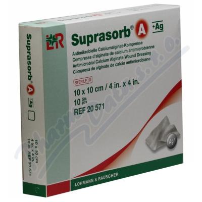 Krytí Suprasorb A+Ag 10x10cm sterilní 10ks