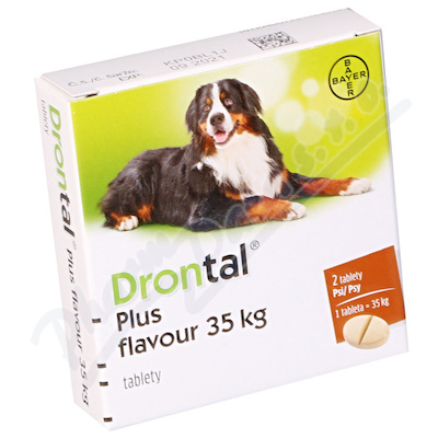 Zobrazit detail - Drontal Plus flavour 35kg pro psy a. u. v. tbl. 2