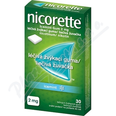Zobrazit detail - Nicorette Icemint Gum 2 mg léčivá žvýkací guma 30