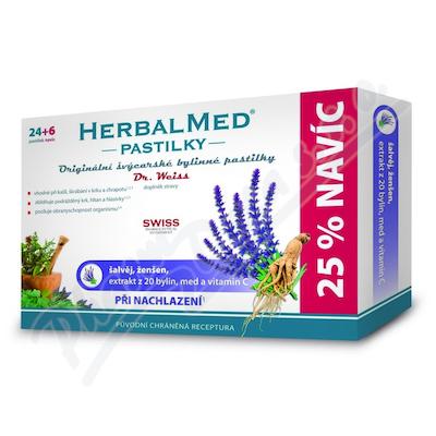 HerbalMed pastilky Dr.Weiss Šalvěj+ženš.vit.C 24+6