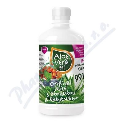 Zobrazit detail - Aloe vera gel s borůvkou a rakytníkem 500ml