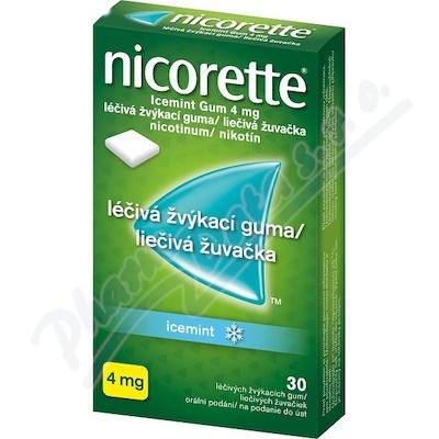Zobrazit detail - Nicorette Icemint Gum 4 mg léčivá žvýkací guma 30
