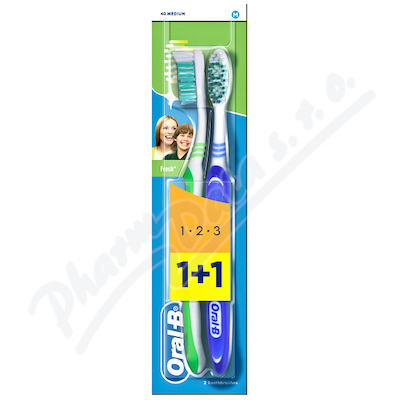 Zobrazit detail - Oral-B zubn� kart.  3Effect Natural Fresh 1+1