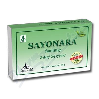 Zobrazit detail - Sayonara fannings zelený čaj sypaný 100g
