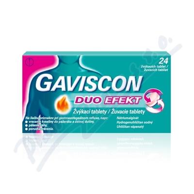 Zobrazit detail - Gaviscon Duo Efekt žvýkací tablety por. tbl. mnd. 24