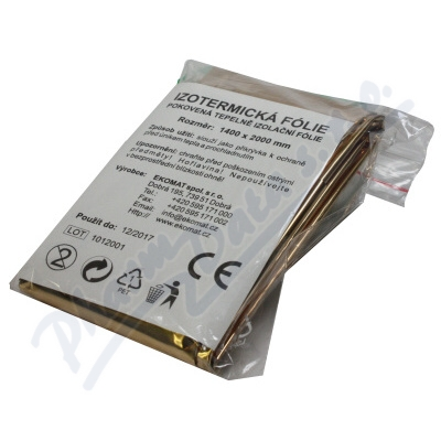 Zobrazit detail - Izotermická fólie zlatostříbr.  140x200cm Steriwund
