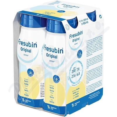 Zobrazit detail - Fresubin original s vanil. příchutí por. sol. 4x200ml