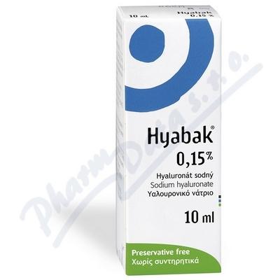 Zobrazit detail - Hyabak 0. 15% gtt.  10ml
