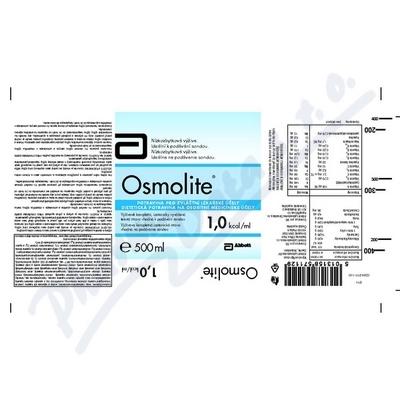 Zobrazit detail - OSMOLITE por. sol. 1x500ml 1. 0 kcal-ml