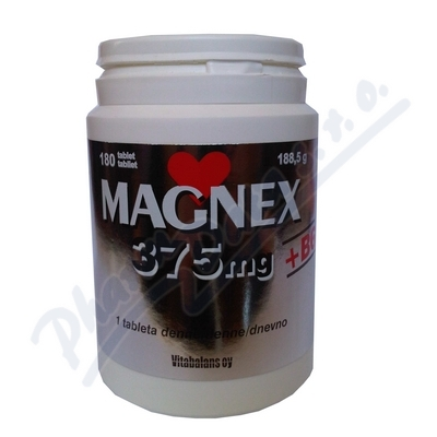 Zobrazit detail - Magnex 375mg + B6 tbl. 180
