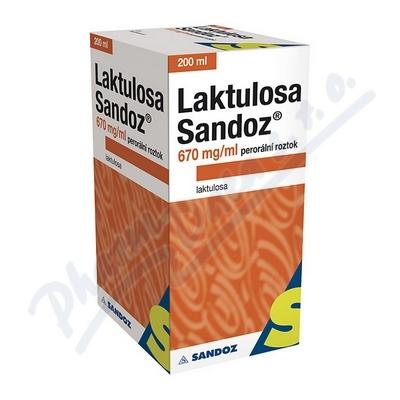 Zobrazit detail - Laktulosa Sandoz 670mg-ml por. sol. 1x200ml-134g IIA