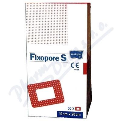 Fixopore S sterilní náplast 10x20cm 50ks