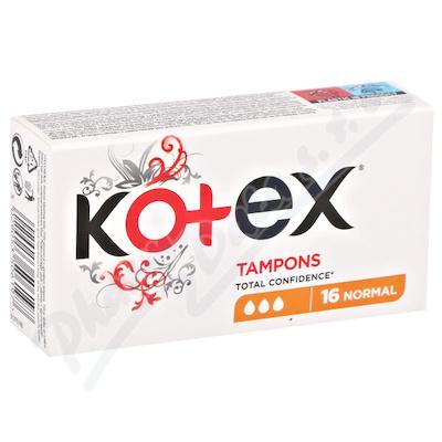 Zobrazit detail - KOTEX Tampony Normal 16ks