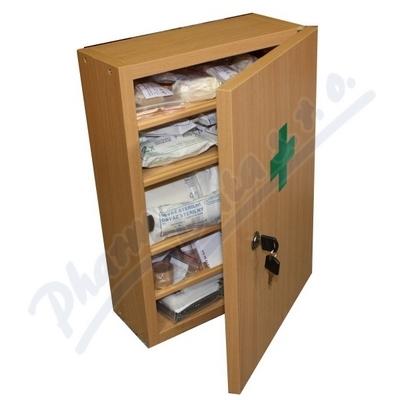 Zobrazit detail - Lékárnička nást. dřevěná bílá do 30 osob Steriwund