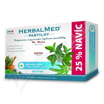 Zobrazit detail - HerbalMed past.  Dr. Weiss Eukalypt+máta+vit. C 24+6