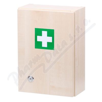 Zobrazit detail - Lékárnička - dřevěná s náplní do 5 osob-ZM 05