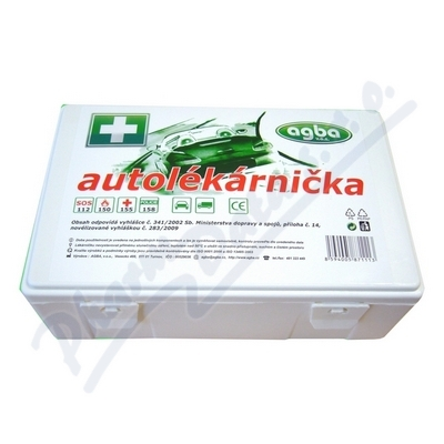 Zobrazit detail - Autolékárnička plastová bílá 341-2014 AGBA