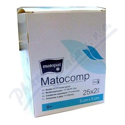 Zobrazit detail - Matocomp 5 x 5cm 25x2ks sterilní komprese z gázy