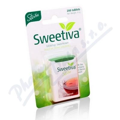 Zobrazit detail - Stevia - Sweetiva 200 tablet