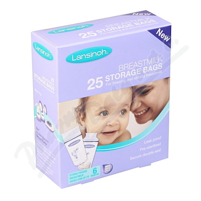 LANSINOH Sáčky na uskladnění mateřského mléka 25ks