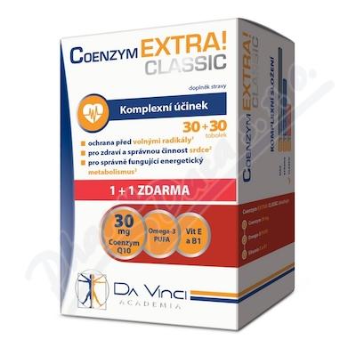 Zobrazit detail - Coenzym EXTRA! Classic30mg DaVinci tob. 30+30ZDARMA