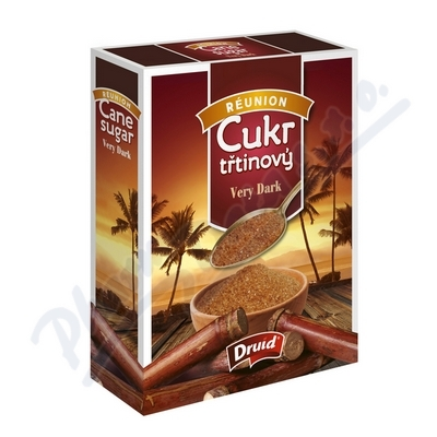 Zobrazit detail - Třtinový cukr Very Dark DRUID - krabička 400g