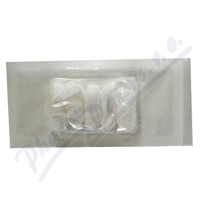 Tampón stáčený z gázy steril.15x15cm-5ks Steriwund