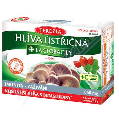Zobrazit detail - TEREZIA Hlíva ústřičná s lactobacily+vit. C cps. 60