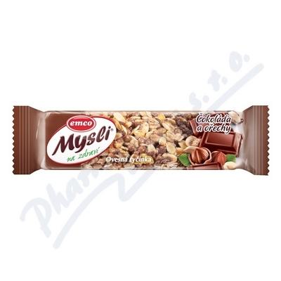 Zobrazit detail - EMCO Mysli Ovesná tyčinka čokoláda a ořechy 45g